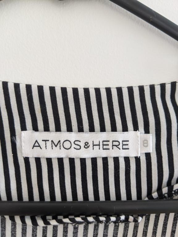 ATMOS & HERE Black and white striped blouse Size 8 - worn once