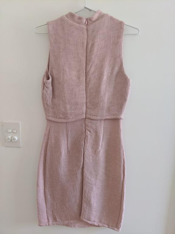 ATMOS & HERE Pink Dress - two piece look, Size 6, worn once
