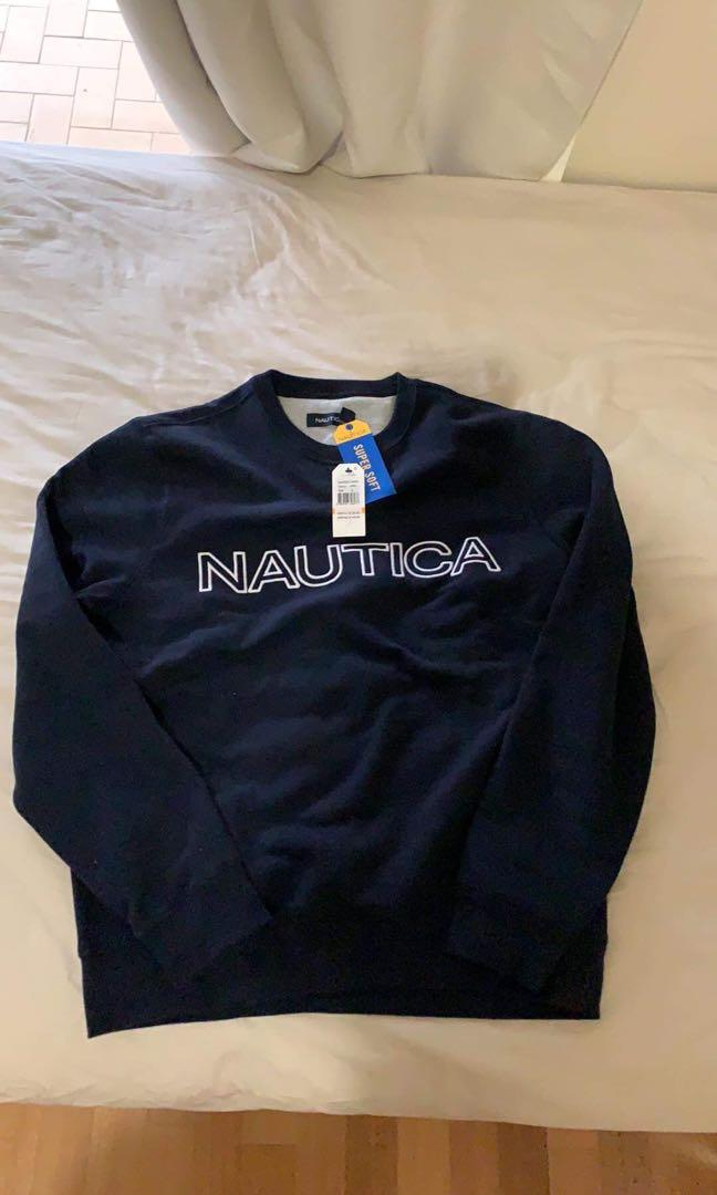 !NEGOTIABLE! BNWT Nautica Logo Sweatshirt COLOUR: NAVY