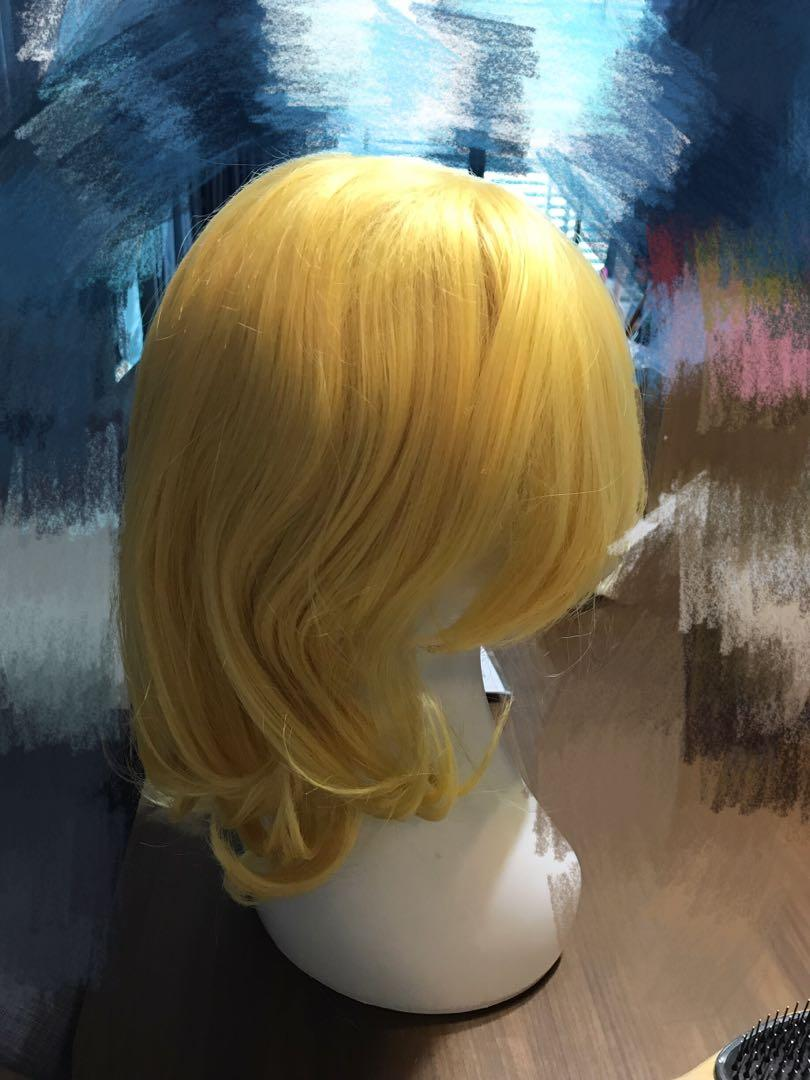 Cosplay Wig short gold wig Kagamine Rin Vocaloid 镜音铃cosplay假发