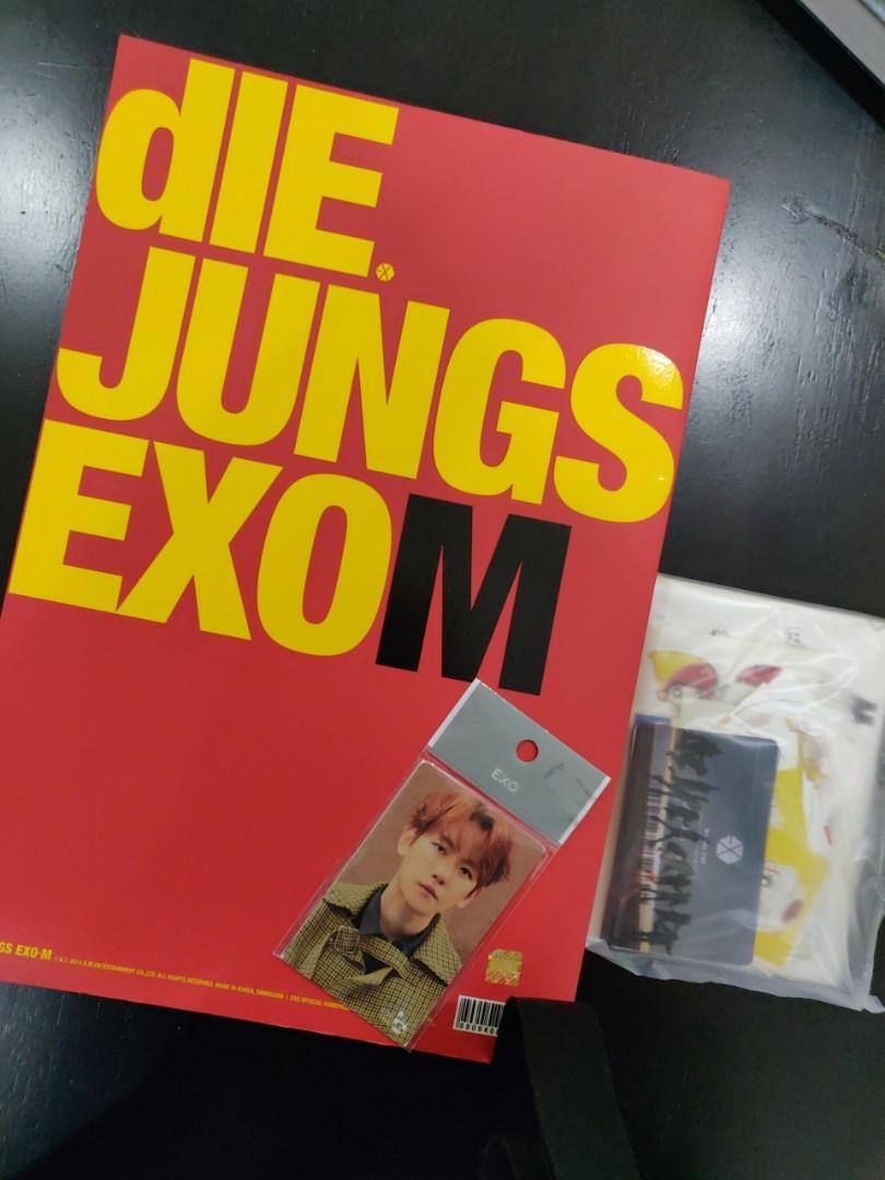 EXO DIE JUNG PHOTOBOOK EXOM BAEKHYUN CASH BEE UNIVERSE