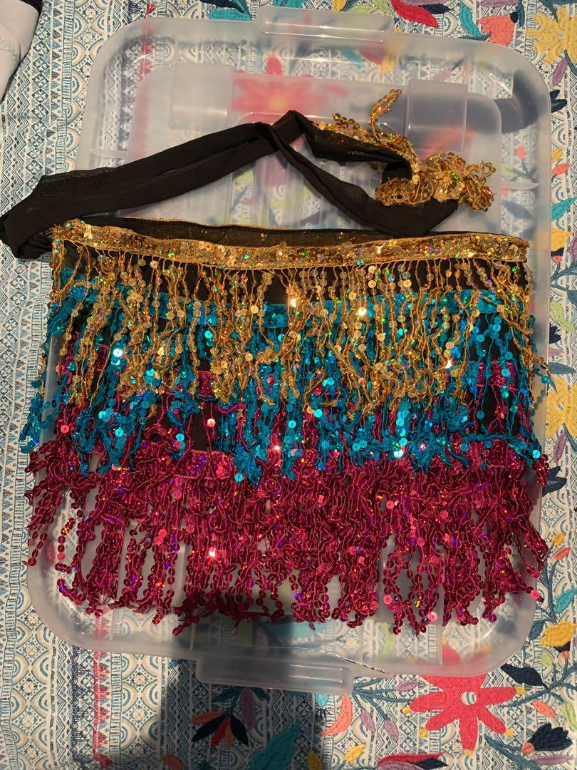 FESTIVAL WEAR SEQUIN WRAP SKIRT SPARKLY MUTLICOLOUR