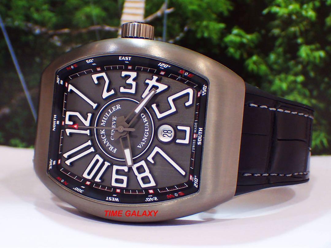 FRANCK MULLER Vanguard V45SCDTTTBRNR 44mm Brushed Titanium Automatic Men's watch