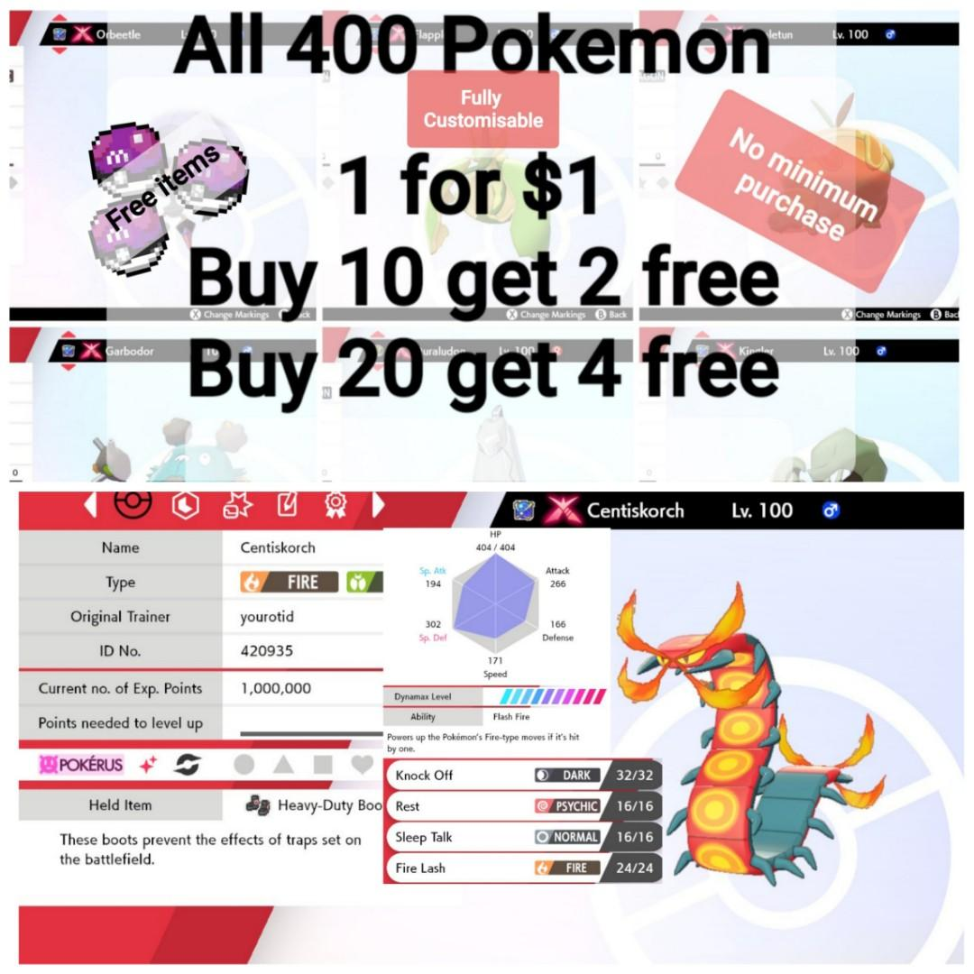 Gmax Square Shiny 6iv Battle Ready Centiskorch Pokemon Sword And Shield Nintendo Switch Toys Games Video Gaming In Game Products On Carousell Último comentario hace 8 meses. gmax square shiny 6iv battle ready centiskorch pokemon sword and shield nintendo switch