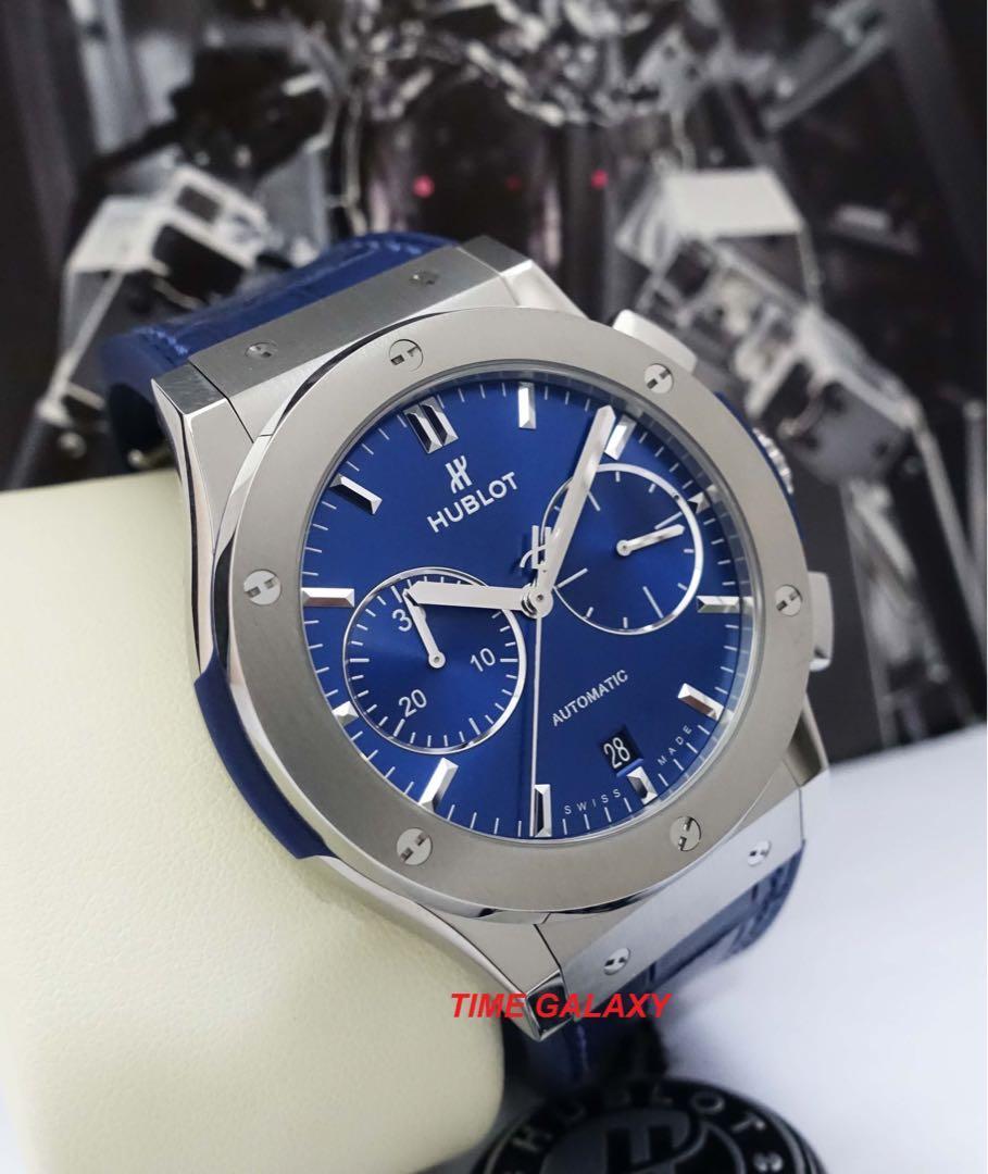 HUBLOT Classic Fusion 521.NX.7170.LR  Blue Dial Automatic Chronograph 45MM Men's Watch