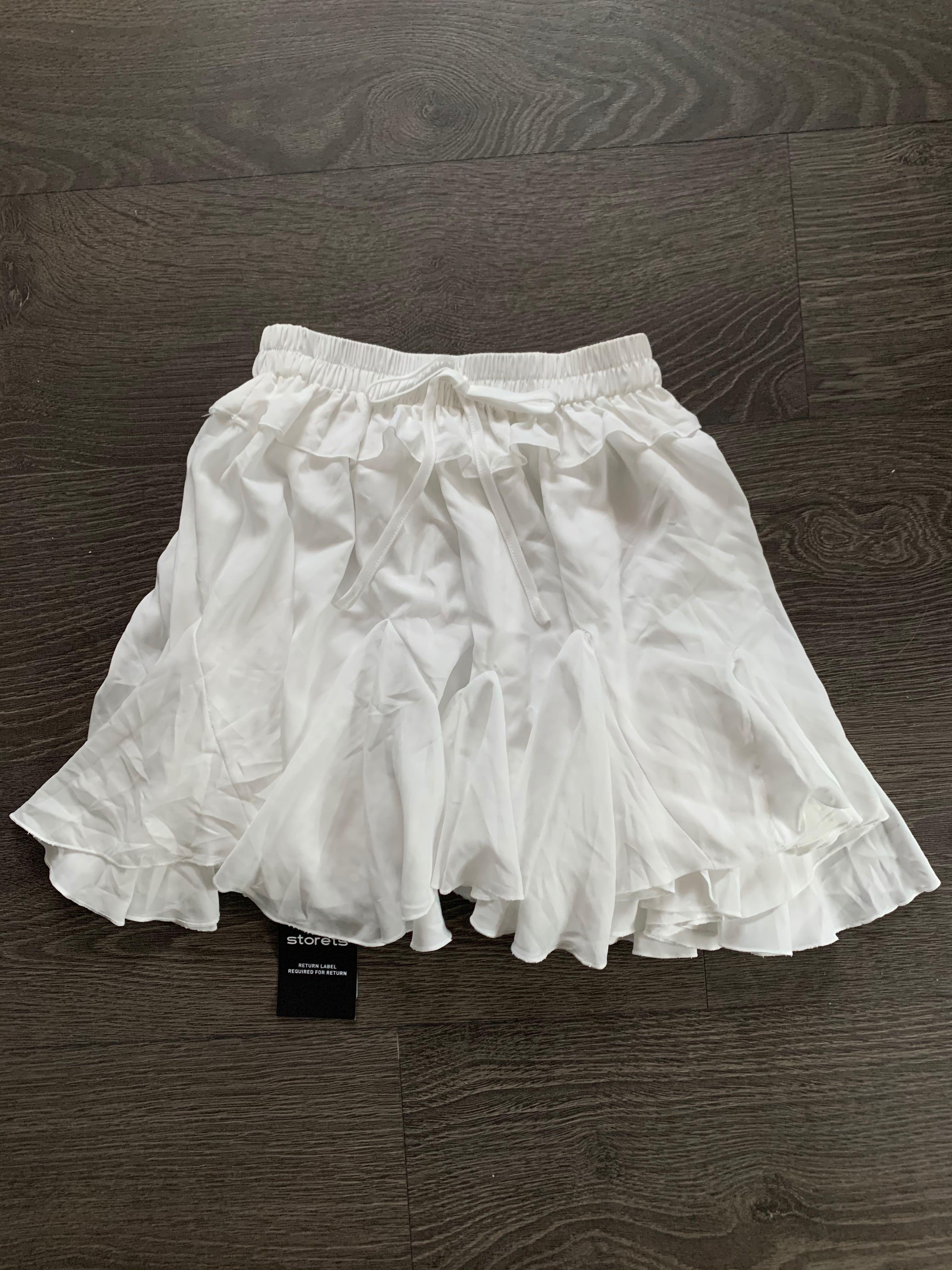 NEW With Tags Storets White Angelic Skirt Skort size S/M