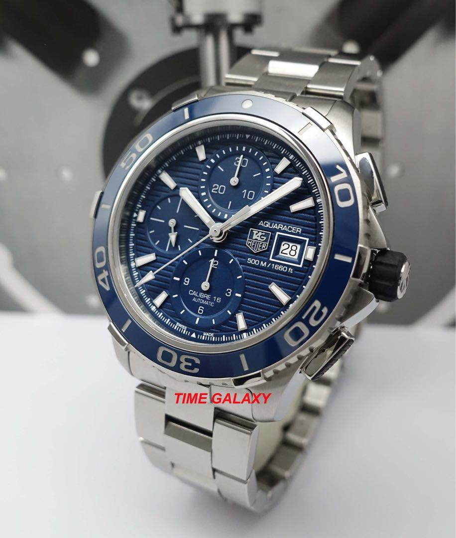 Offer price !! Brand New TAG HEUER CAK2112.BA0833 Aquaracer Diver Caliber-16 Auto Chrono 43mm Blue Dial Stainless Steel Men's Watch
