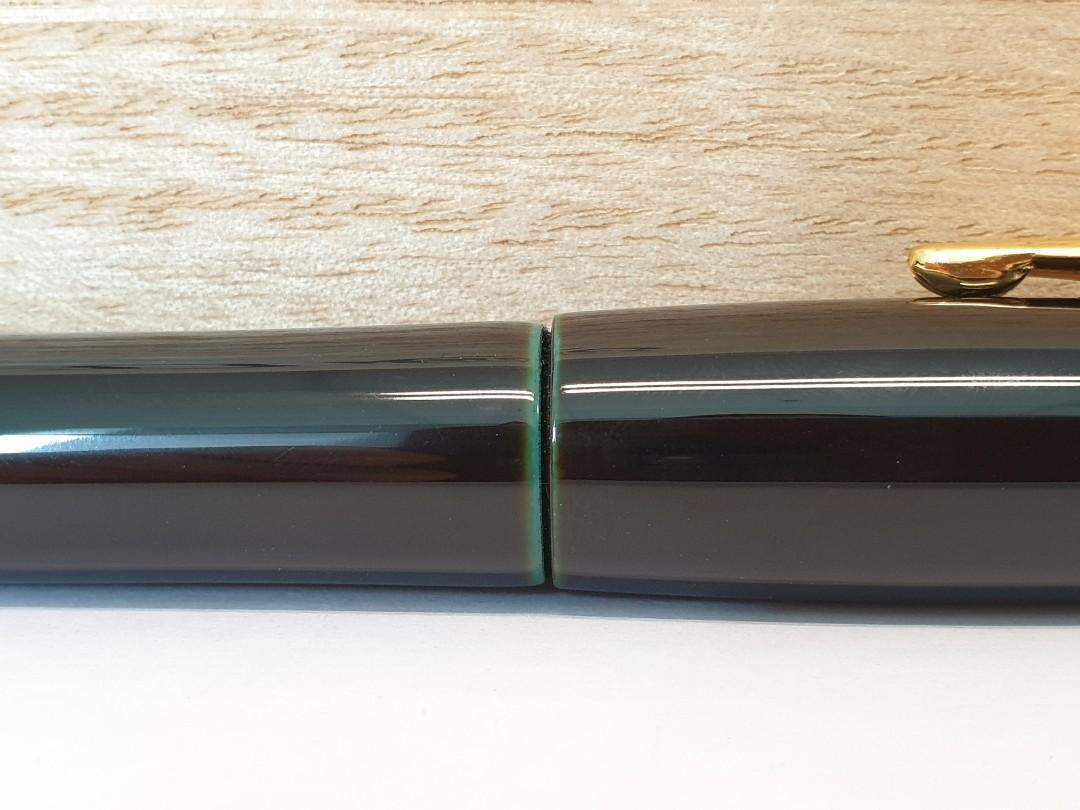 Platinum Izumo Ebonite Urushi Tamenuri Lacquer Dark Green Fountain Pen