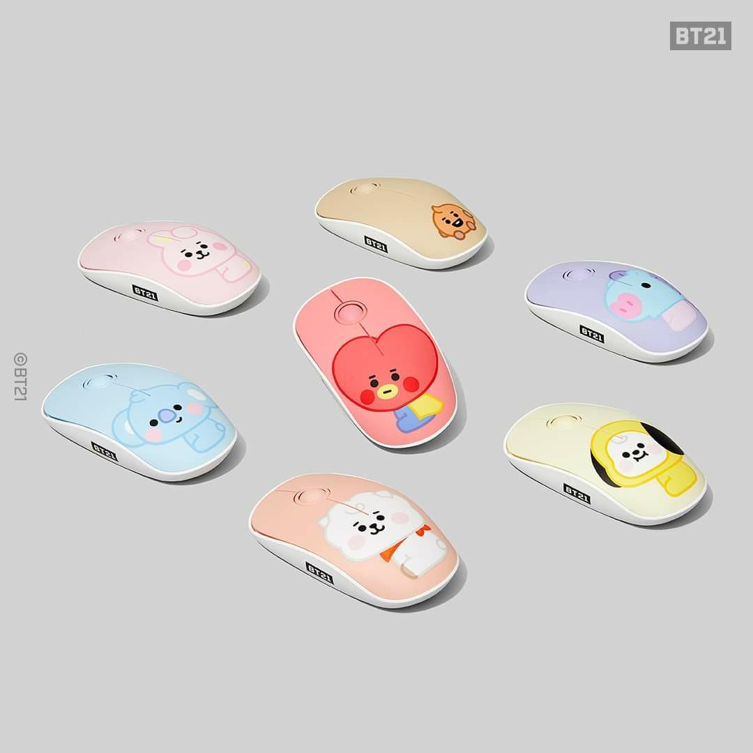 (READY STOCK) BTS BT21 x Royche Baby Wireless Silent Mouse