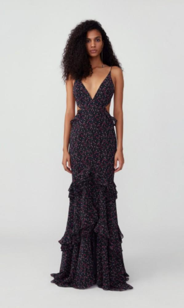 RENT// FAME AND PARTNERS - Mermaid Cutout Dress RRP $385