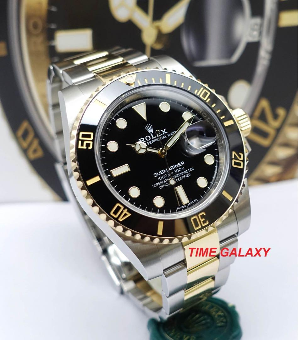 ROLEX Submariner 116613LN Steel and Yellow Gold Black Dial Ceramic Bezel 40mm Automatic Watch