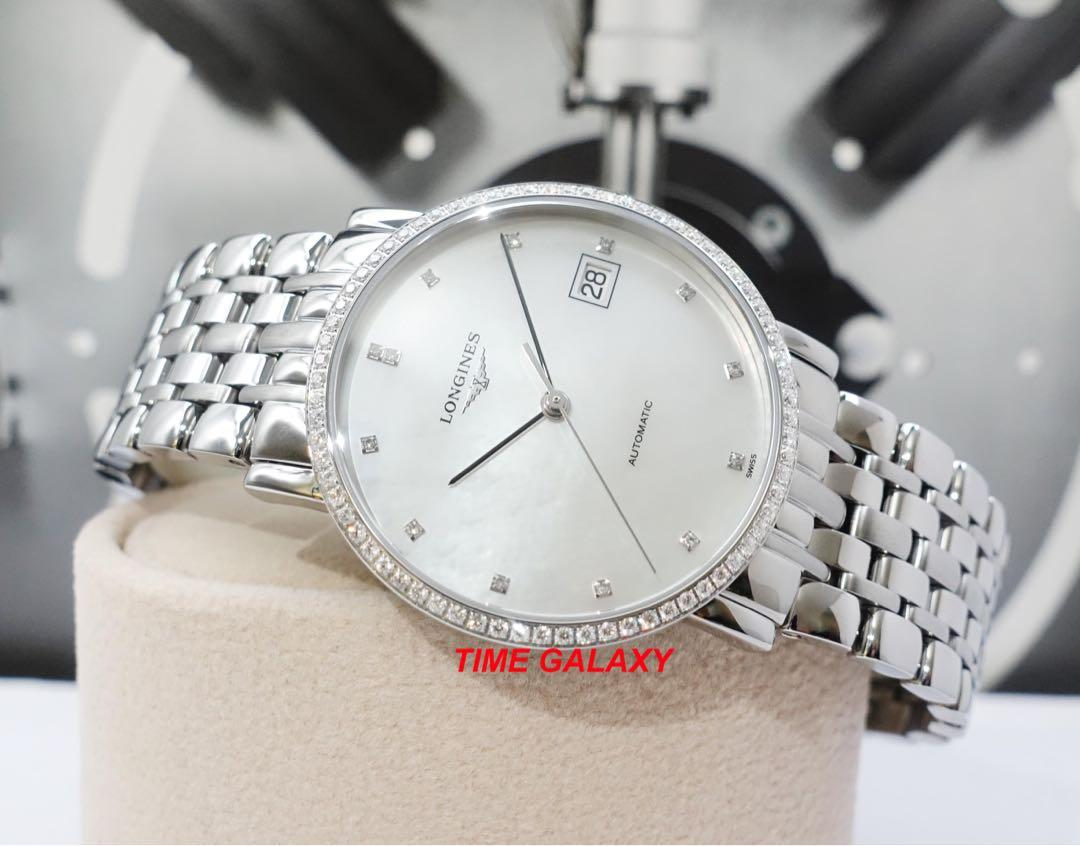 Special price Brand New LONGINES L4.809.0.87.6 Elegant Collection Automatic Diamond bezel Stainless Steel 35mm Lady