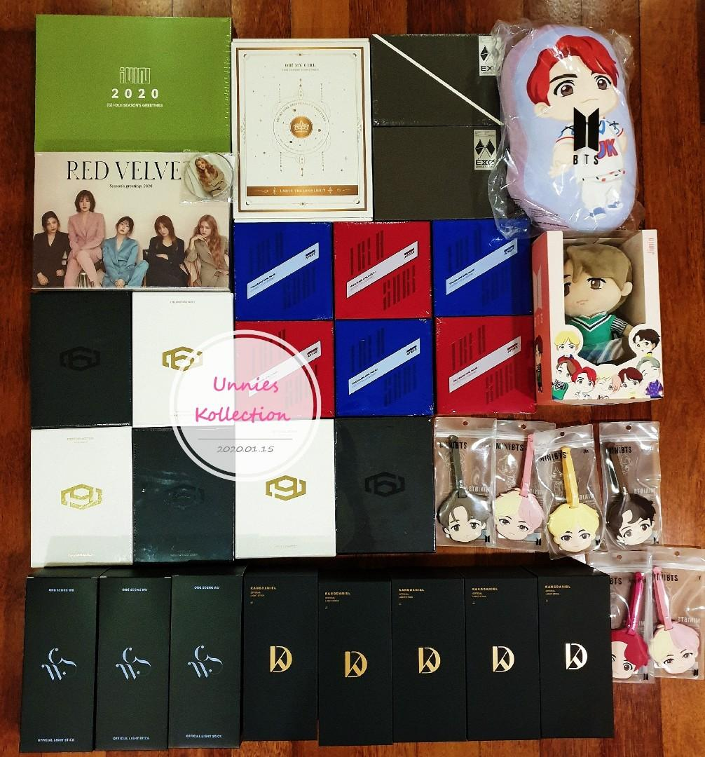💥💥STOCK ARRIVAL💥💥 SF9, ATEEZ, EXO, KANG DANIEL, ONG SEONG WU, RED VELVET, OH MY GIRL, (G)i-dle & BTS MERCHANDISE