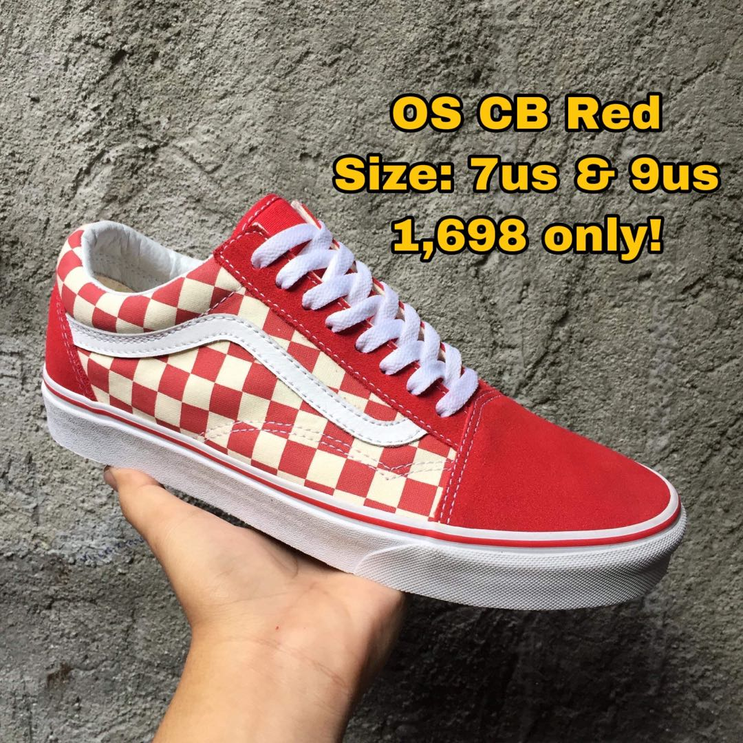 Vans Old Skool CB Red, Women's Fashion