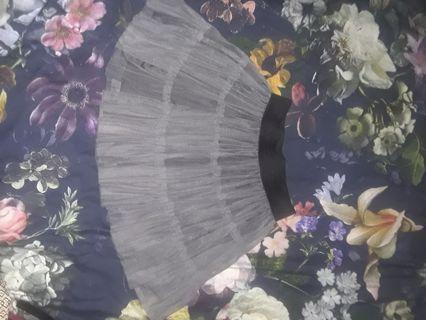 Gray grey tutu tiered crinoline mini skirt small