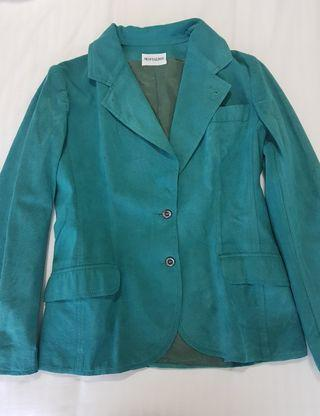 Teal Blazer Suede material