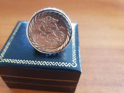 1912 Full sovereign ring