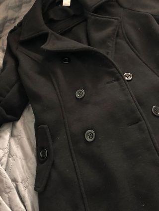 Black Buttoned Coat    Size S/M