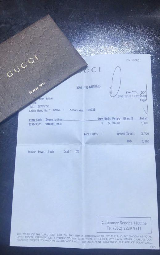 9.5/10condition, authentic  -70%off, Gucci long Wallet, original price HKD3600 (from an individual who bought in Macau in 2011)