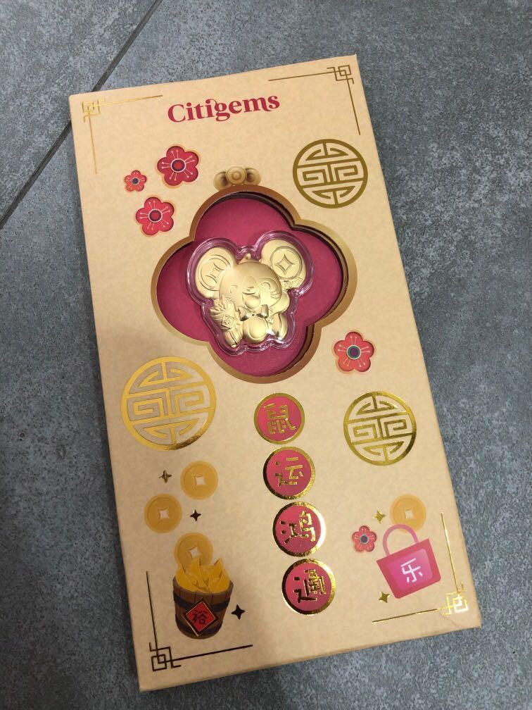 999 pure gold coins and gold bar mouse Yu Shu Shu le shu shu eat citigems maxicash Mediacorp