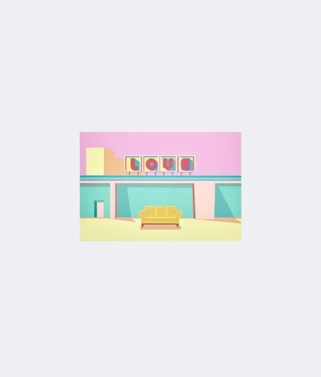 BOY WITH LUV CARD _VER 1 & VER 2 + Random Postcard WEPLY - HOUSE OF BTS: POP UP