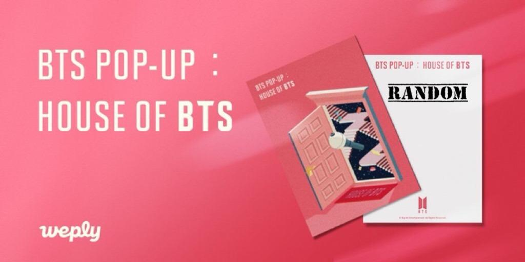BOY WITH LUV Concert Bag 002 Pink + Random Postcard - HOUSE OF BTS: POP UP