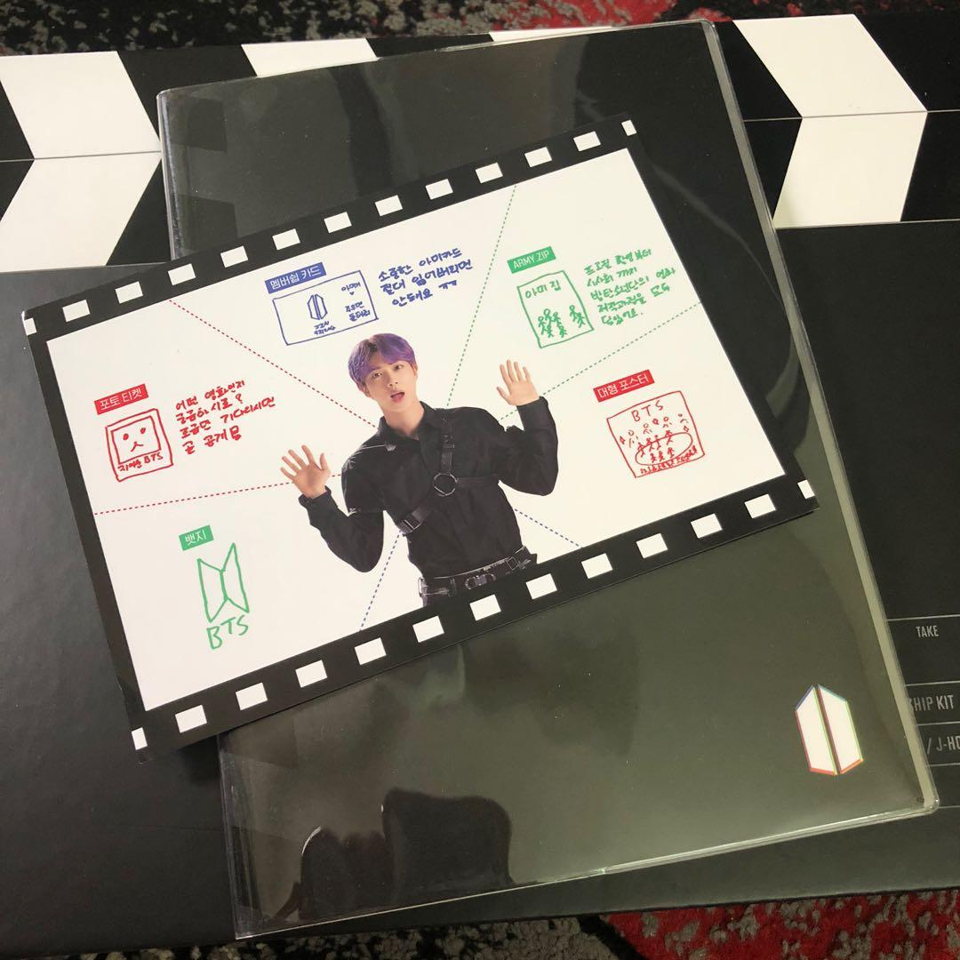 BTS 6TH ARMY MEMBERSHIP KIT (NOTEBOOK AND JIN USER GUIDE)