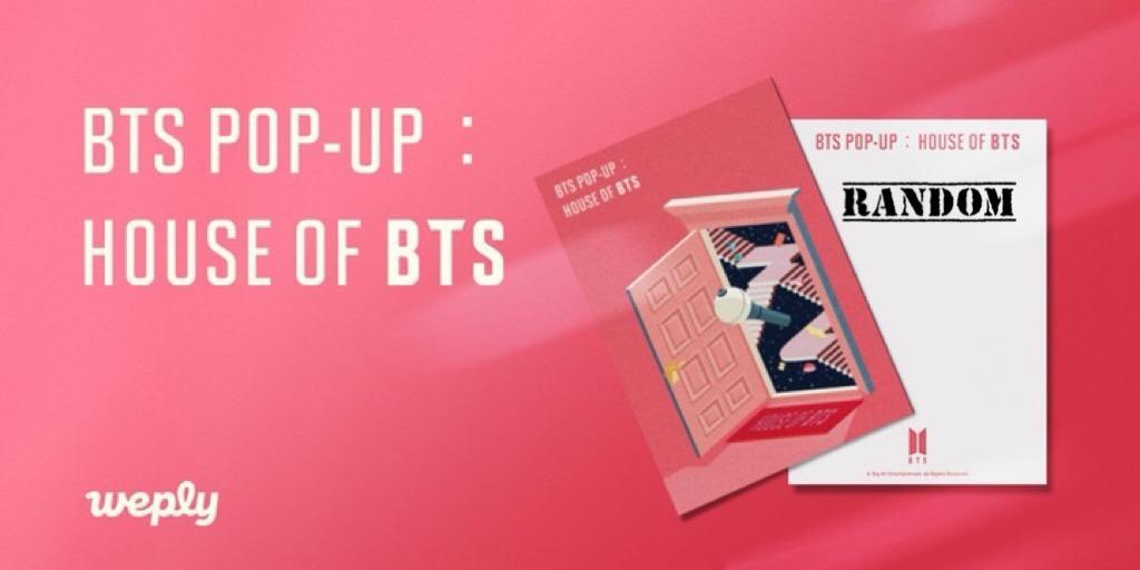 BTS FAKE LOVE BAG 001 + Random Postcard - HOUSE OF BTS: POP UP