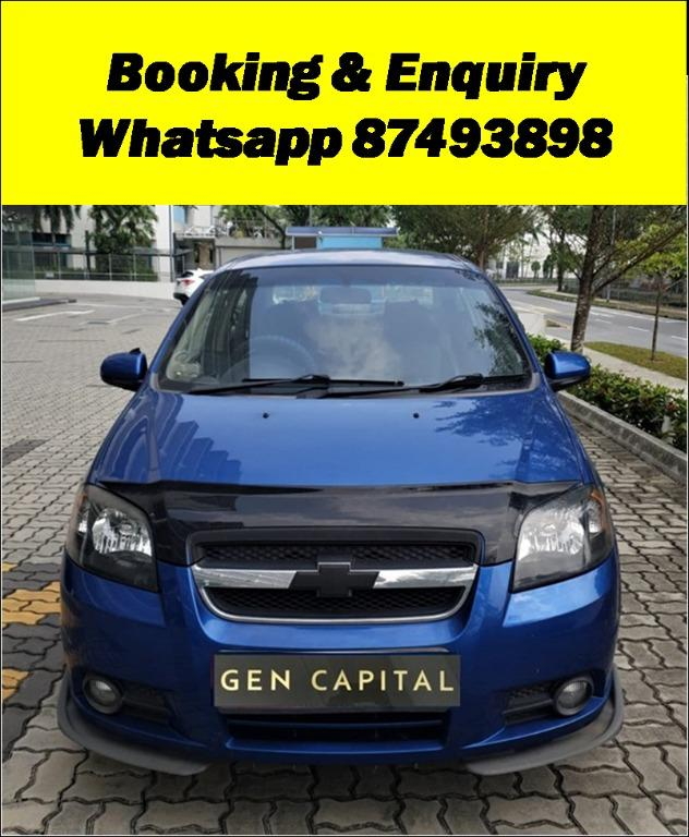 Chevrolet Aveo Sports JUST IN Special CNY rates @ 85884811. Cheapest rental in town! $500 Deposit driveoff immediately!