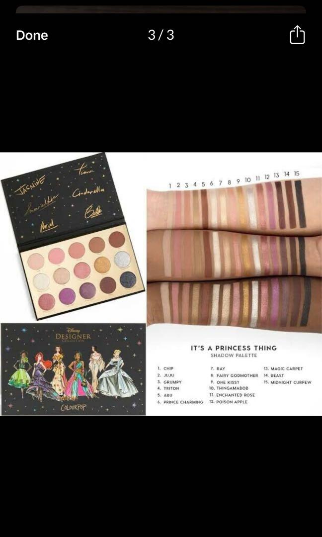 Colourpop - it's a princess thing eyeshadow palette