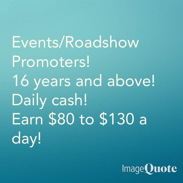 Event Helpers/Promoters
