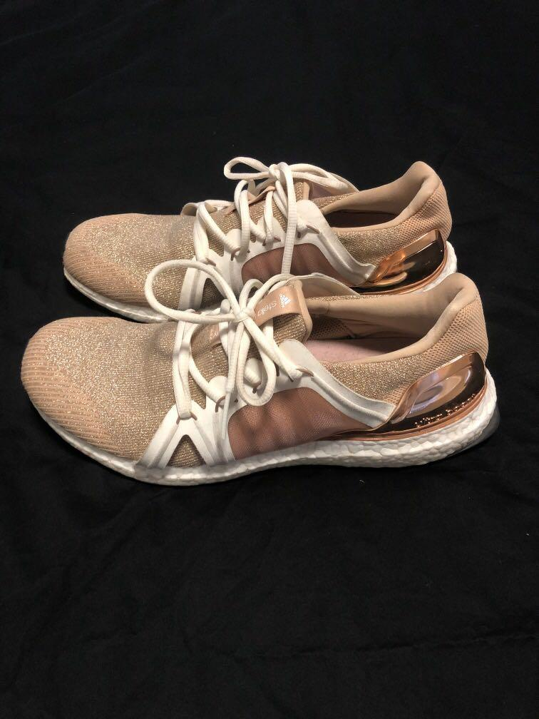 **Limited Edition Adidas x Stella McCartney gold + rose gold sneakers