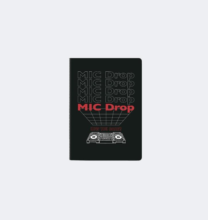MIC DROP A5 NOTEBOOK + Random Postcard - HOUSE OF BTS: POP UP