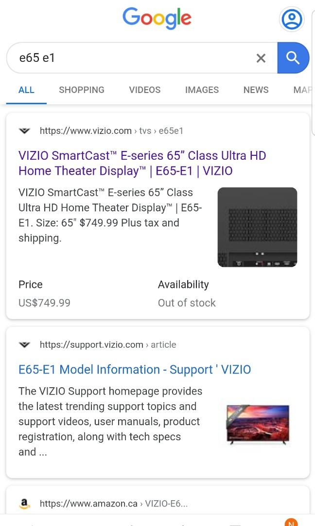 """NEW 2 VIZIO 65"""" E-SERIES 4K UHD SMART TV ONLY $580 and up!"""
