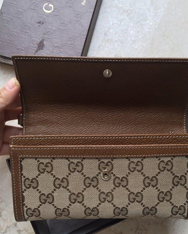New, authentic|-55%off,Gucci Long Wallet with original receipt amount ¥2780 (from an individual seller who bought in China)