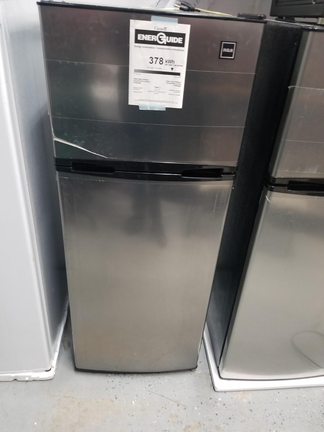 NEW YEAR SALE RCA FRIDGE STAINLESS STEEL 7.2 CU FT $270!