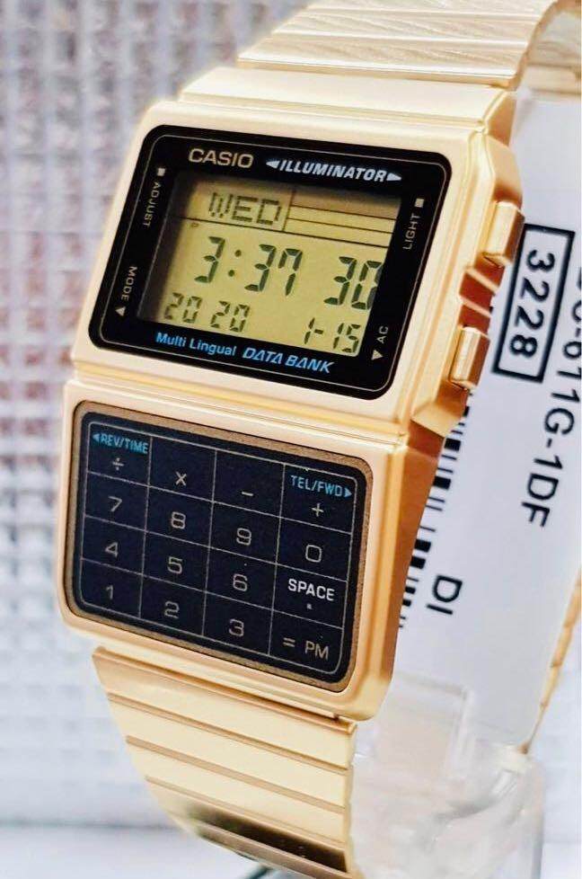 NEW🌟CASIO UNISEX SPORTS WATCH : 100% ORIGINAL AUTHENTIC : By G-SHOCK ( GSHOCK ) COMPANY : DBC-611G-1 (GOLD)