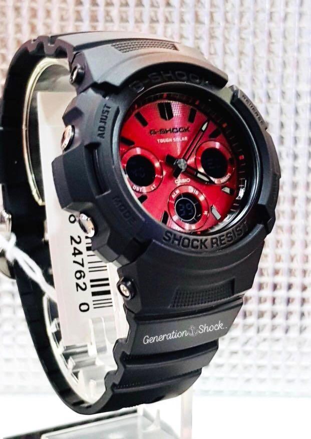 NEW🌟TOUGH☀️SOLAR : GSHOCK DIVER UNISEX SPORTS WATCH : 100% ORIGINAL AUTHENTIC CASIO G-SHOCK : AWR-M100SAR-1A (BLACK ROSE-GOLD)