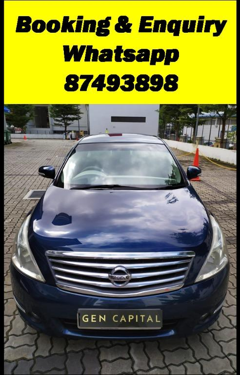 Nissan Teana 2.0JUST IN Special CNY rates @ 85884811. Cheapest rental in town! $500 Deposit driveoff immediately!
