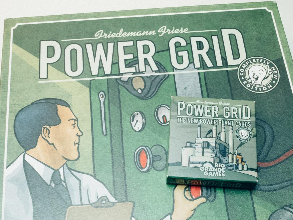 Power Grid Board Game with New Power Plant Cards Expansion and Benelux/Central Europe Map