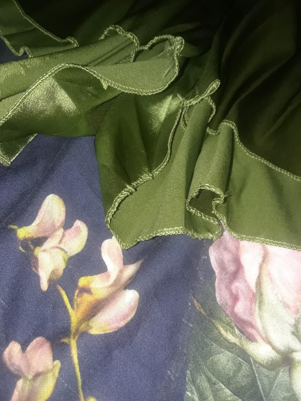 Sap Green satin silk backless halter romper playsuit classy cocktail small medium