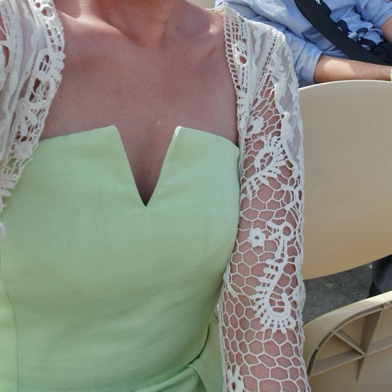 TOPSHOP pastel green zip back V neck strapless textured playsuit pocket romper
