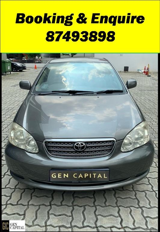 Toyota Altis  JUST IN Superb condition! Special CNY rates @ 85884811. Cheapest rental in town! $500 Deposit driveoff immediately!