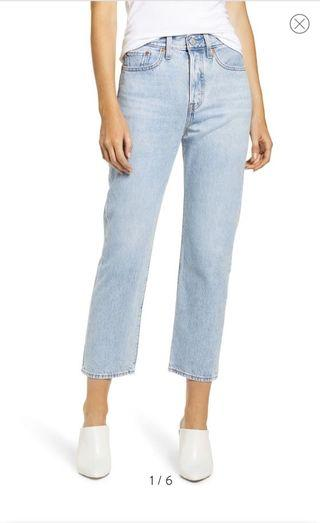 NEW Levi's cropped wedgie straight jeans