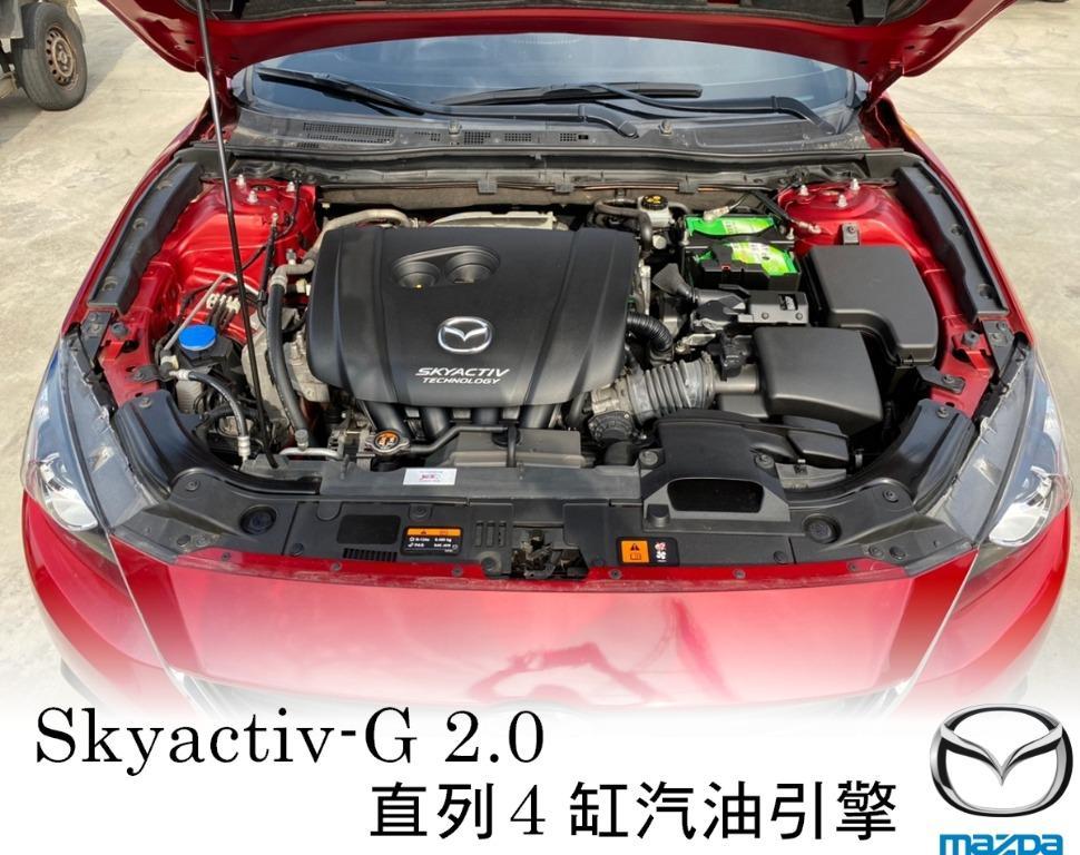 2015年 馬自達 Mazda3 馬3 魂動紅 2.0 IKEY 導航 TV電視 倒車顯影 全貸 超貸 月付低 期數長