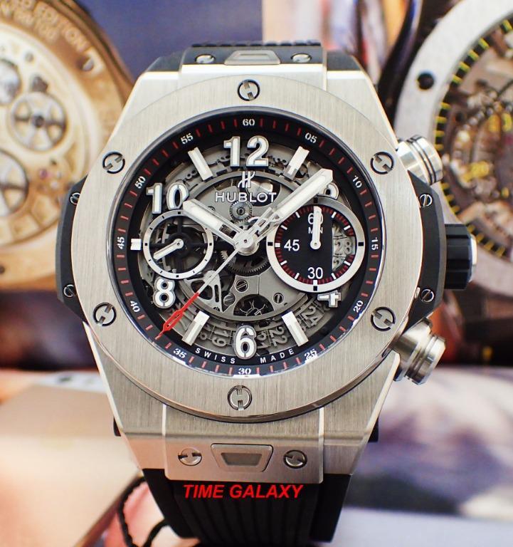 Brand New HUBLOT Big Bang Unico 411.NM.1170.RX Titanium Ceramic Automatic Chronograph 45MM Men's Watch.