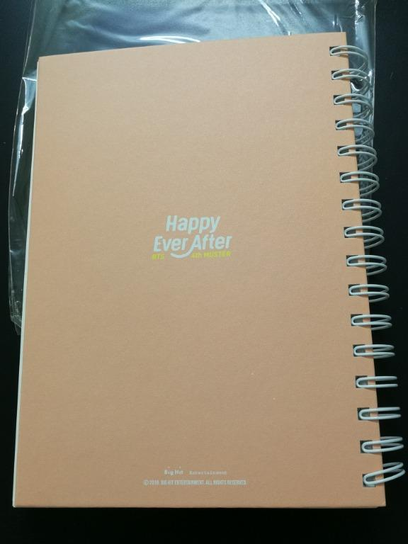 BTS 4th Muster Korea Happy Ever After Notebook Unsealed