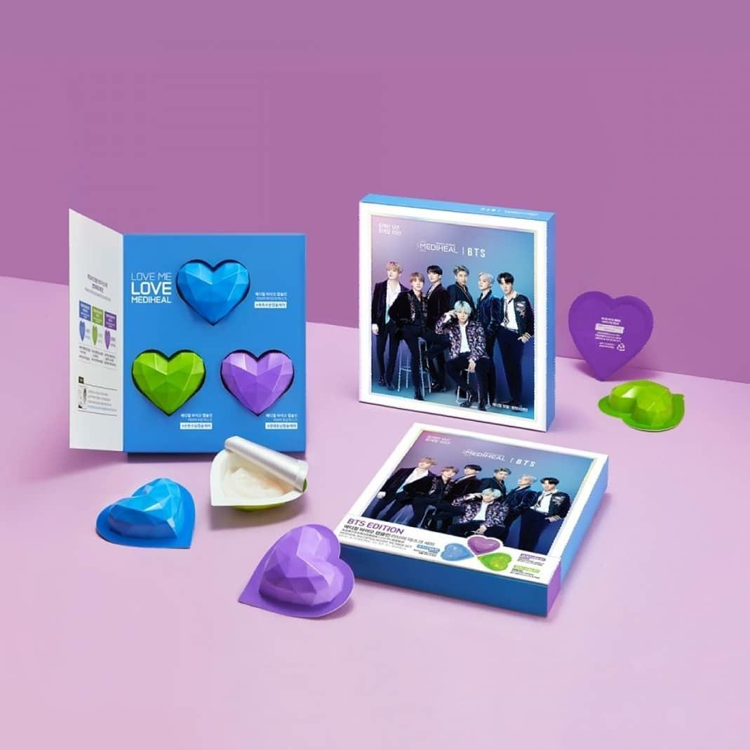 BTS Edition - Bio Capsulin Love Me Mask Set  Ready di Jakarta, Siap kirim! Stok Terbatas ❤