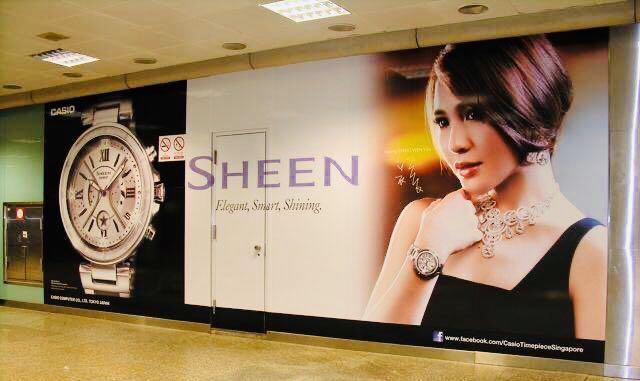 NEW🌟SHEEN GLAMOUR WATCH : 100% ORIGINAL AUTHENTIC CASIO SHEEN : by BABY-G SHOCK ( GSHOCK )  Company : Swarovski Crystal & Element : SHE-5515D-7ADR