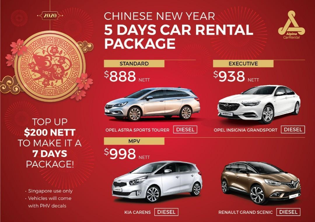 (CHARLES)  CNY CAR RENTAL PACKAGE 2020